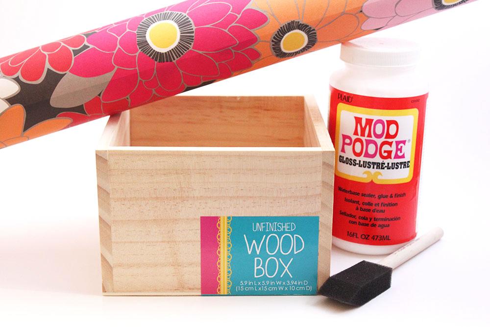 Decoupage Wood Decoupage-wood-box-supplies