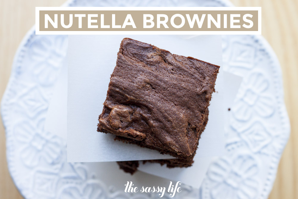 Nutella Brownies, slightly adapted from Karly's recipe at Buns In My ...